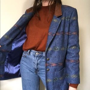 Vintage oversized western coat boyfriend blazer